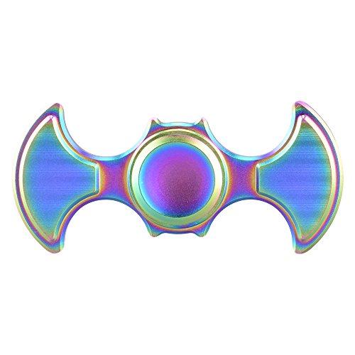 Starcrafter Fidget Spinner Material de Cobre Puro Spinner Fidget Juguete Ultra Durable 5 Min Spins Finger Spinner Alivie su Estrés, Ansiedad y Aburrimiento para Niños y Adultos (Versión Mejorada Multicolor)