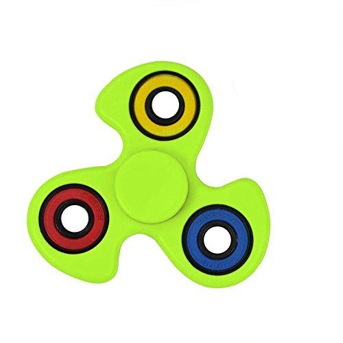 Starcrafter Fidget Spinner , Spinner Fidget Juguete Ultra Durable Finger Spinner Alivie su Estrés, Ansiedad y Aburrimiento para Niños y Adultos (Amarillo) - El color del círculo pequeño es aleatorio