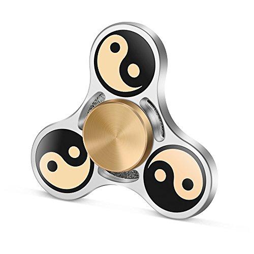 TOOBOM Fidget Spinner Rodamiento Premium Construcción Duradera Impresión no-3D Hacer Girar Suavemente Mucho Tiempo Juguete Fidget Reductor de Tensión de Alivio Spinner Silencioso de Mano (GL_TAIJI)