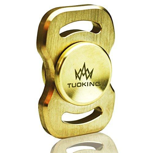 TOPKing Hand Spinner Fidget 100-150s Tiempo de Rotación DIY Juguete Latón Material Hand Fidget Spinner EDC (Escalera)