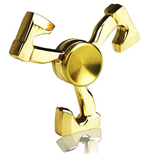 TUOKing Fidget Spinner DIY Spinner Juguete Fidget 3-6 Minutos Tiempo de Rotación Latón EDC para Joven (Hacha)