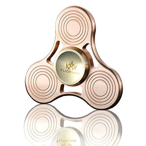 TUOKing Hand Fidget Spinner Material de cobre EDC Gyro del dedo, 5-8 minutos Juguete del hilador de DIY para Ausitm y ADHD El dejar de fumar y tiempo de la matanza, un buen regalo para revivir la tensión para el adulto y Chilren