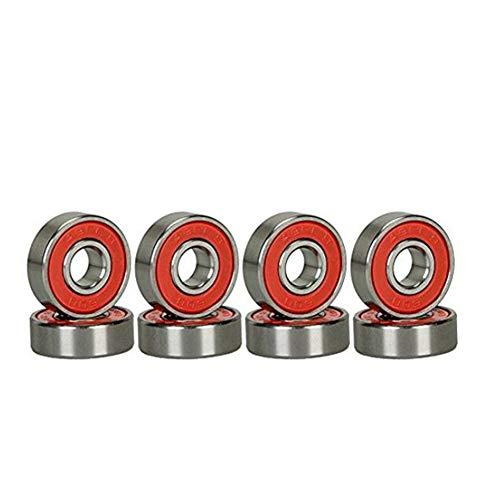 NiceButy 8pcs plástico Rojo blindado Miniatura 608-2RS rodamientos de Bolas de Ranura Profunda rodamientos de Bolas de Alta Velocidad reemplazo del cojinete de Spinner Mano cojinetes del patín
